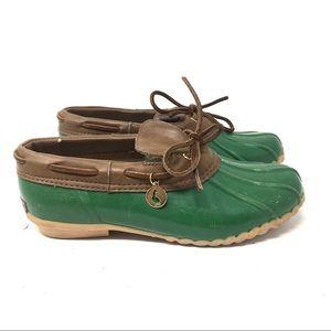 Sporto Leather Rubber Duck Green Rain Boot…